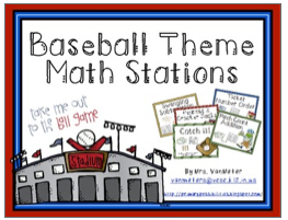 http://www.teacherspayteachers.com/Product/Baseball-Theme-Math-Stations-649475