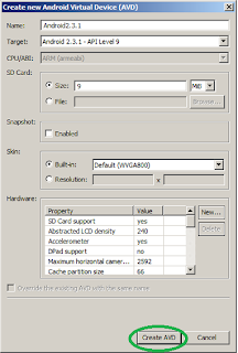 Create New Android Virtual Device  on Android SDK