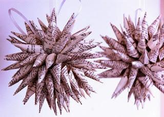 Adornos de Navidad con Papel Reciclado, I Parte