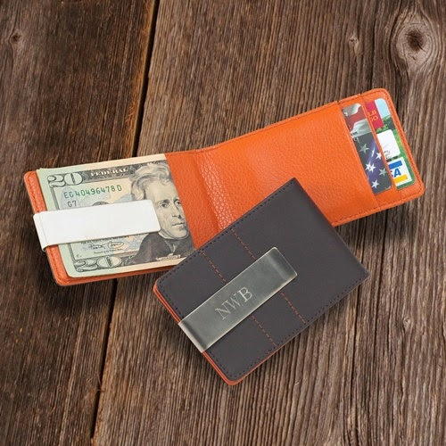 personalized wallet and money clip