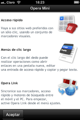 Descarga Opera Mini 7 iPhone