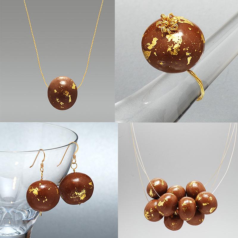 Gold Cake Balls Decoration