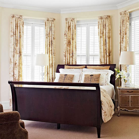 Modern Furniture 2014 Smart Bedroom Window Treatments Ideas