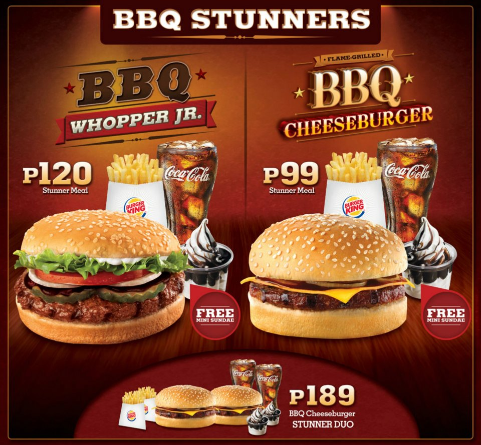 The burger chain has a comprehensive service offering in the Philippines and is regarded as a market leader in the takeaway restaurant field. The menu has all the traditional BK favourites plus some specifically designed for the Filipino plpost.mls: K.