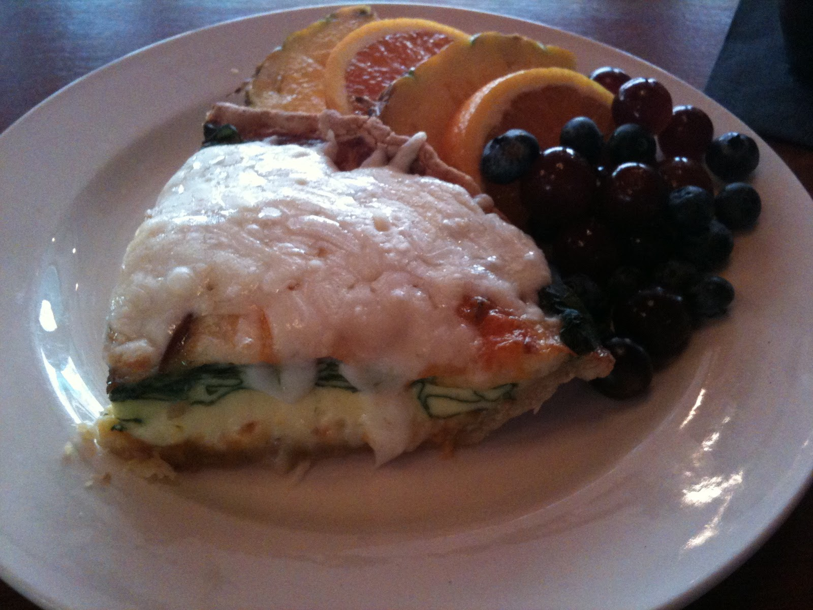 Bacon and spinach quiche at 219 an american bistro norfolk virginia