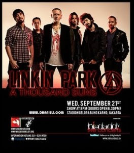 Kabar Berita Harga tiket masuk konser Linkin Park Jakarta Indonesia 2011