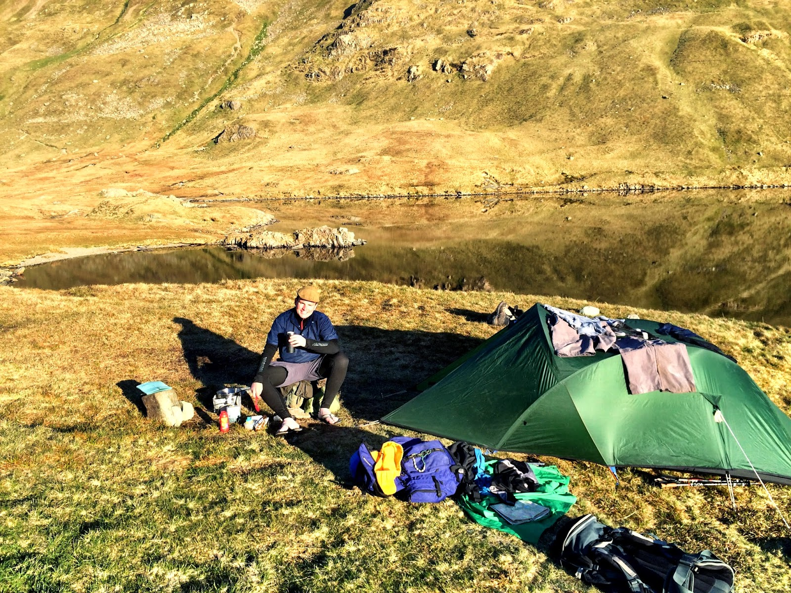 Wild camping at Grisedale Tarn, Lake District