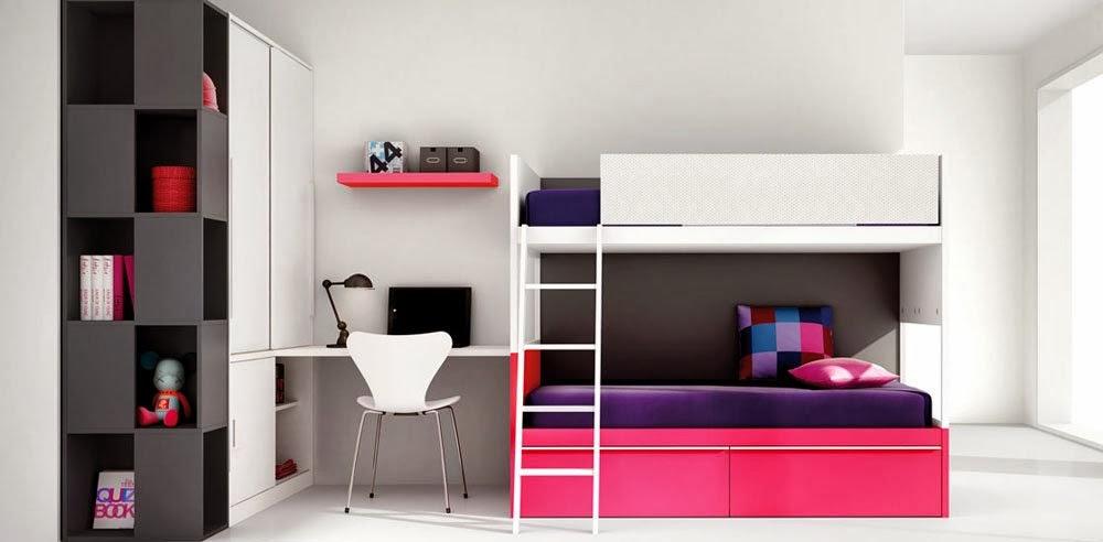 Dormitorio juvenil decoraci n de dormitorios con colores - Dormitorios infantiles mixtos ...