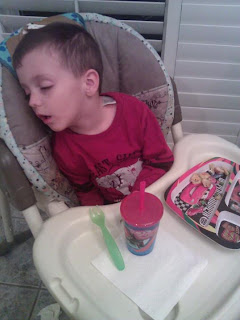 kid sleeping at dinner, sleeping on food