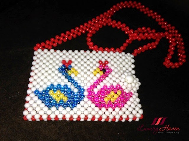 diy beaded ezylink card holder