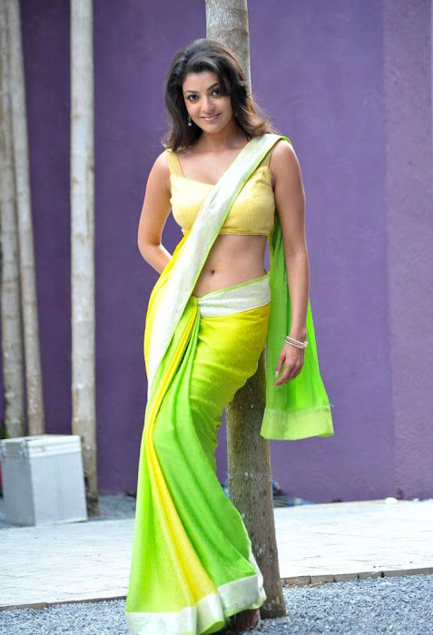 kajal agarwal test saree in business man latest photos