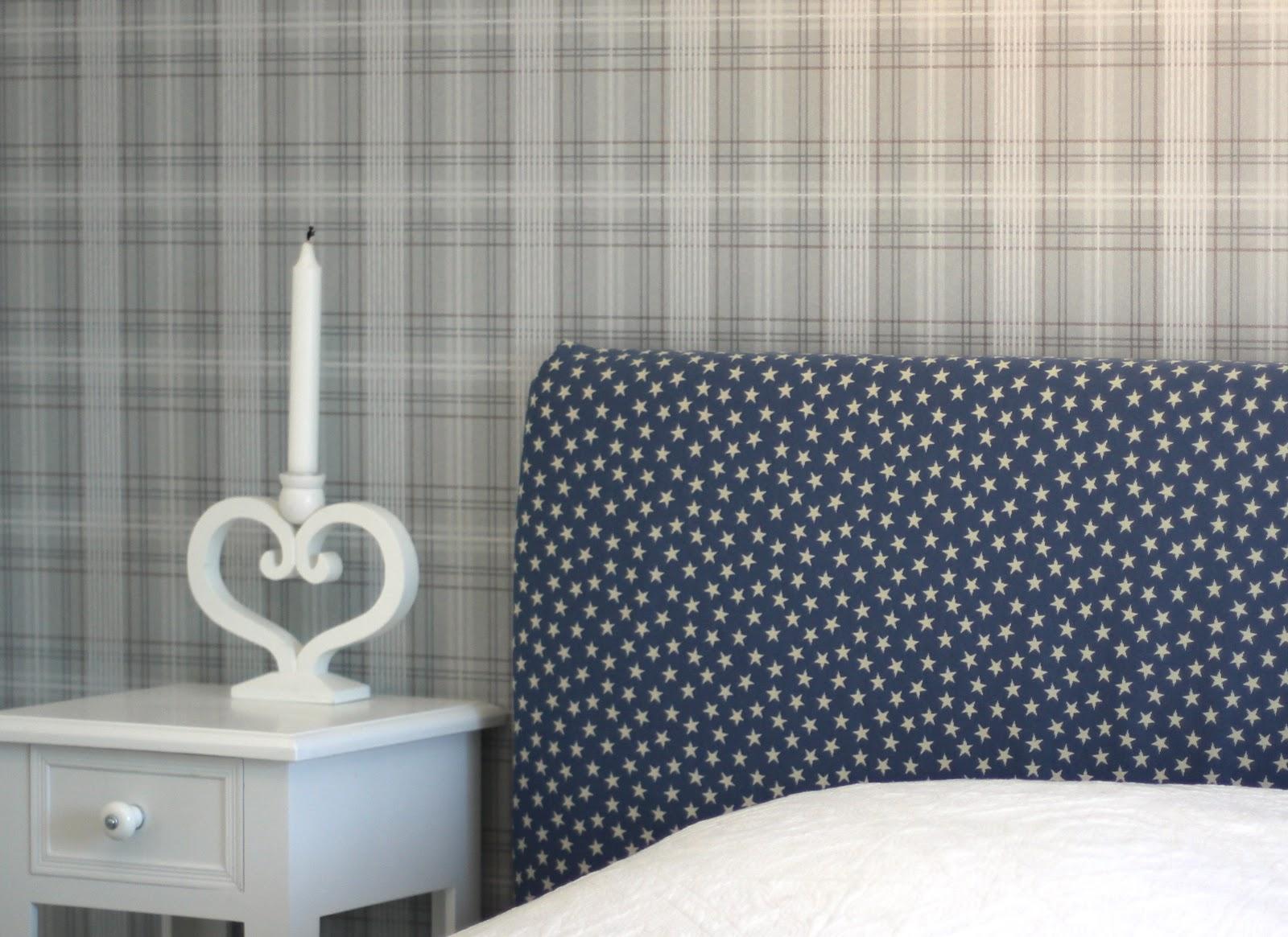 Vitt och blått: sovrum