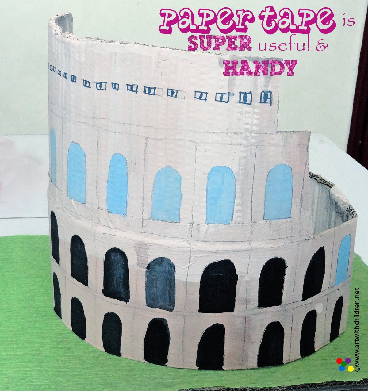 last minute school project making a model of the colosseum using impressive work done in such short time bravo