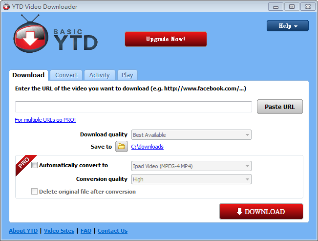 網路影片下載軟體推薦:YTD Video Downloader