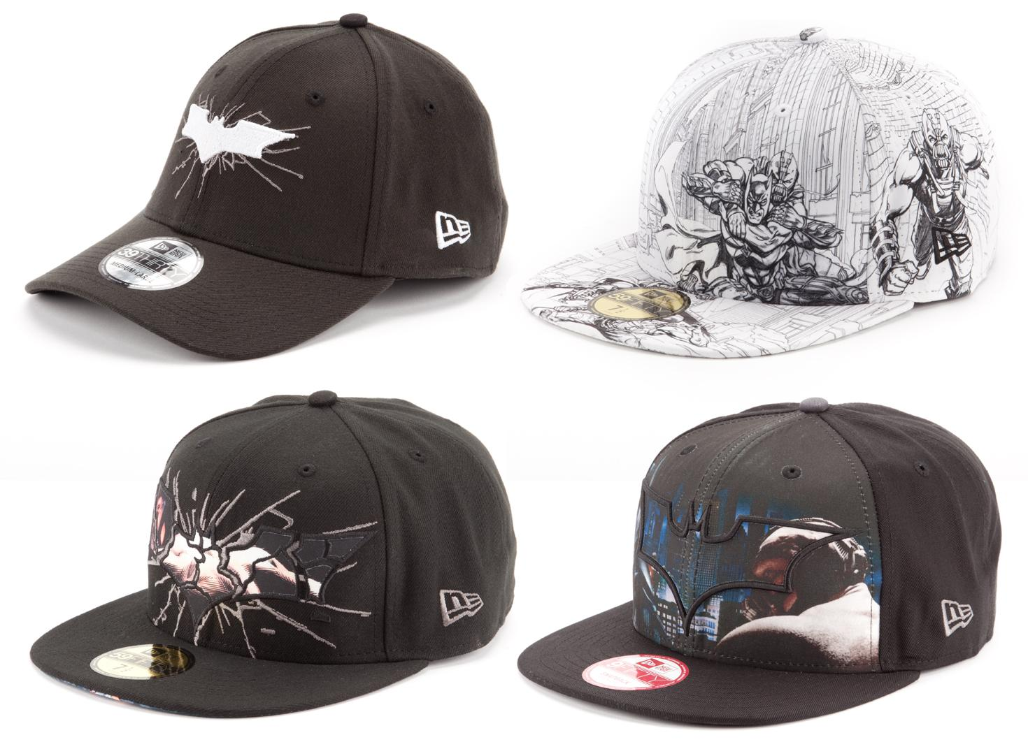 ea68639bafe The Dark Knight Rises New Era Hat Collection - Batman and Bane Snapback and  Fitted Hats