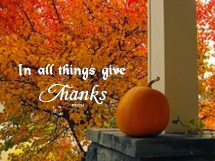 Give THANKS for all of your blessings.