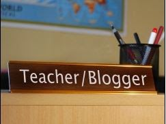 Teacher/blogger nameplate