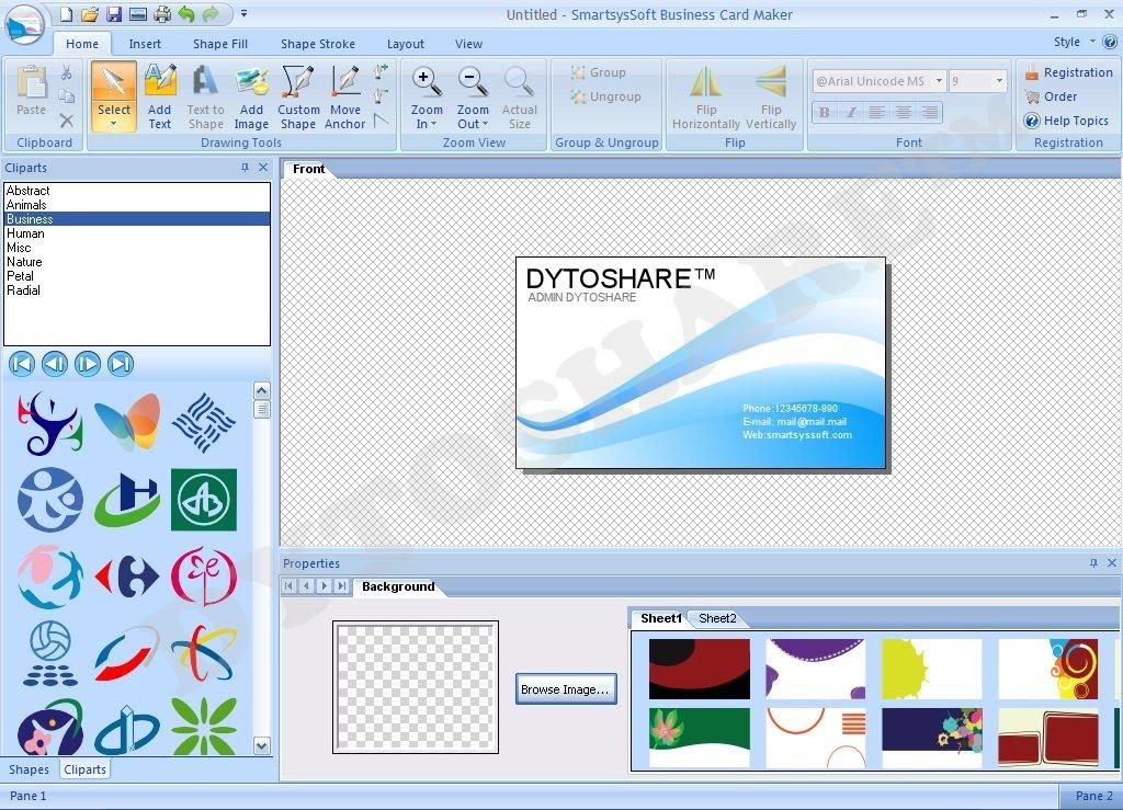 Free Download SmartsysSoft Business Card Maker 2.20 ...