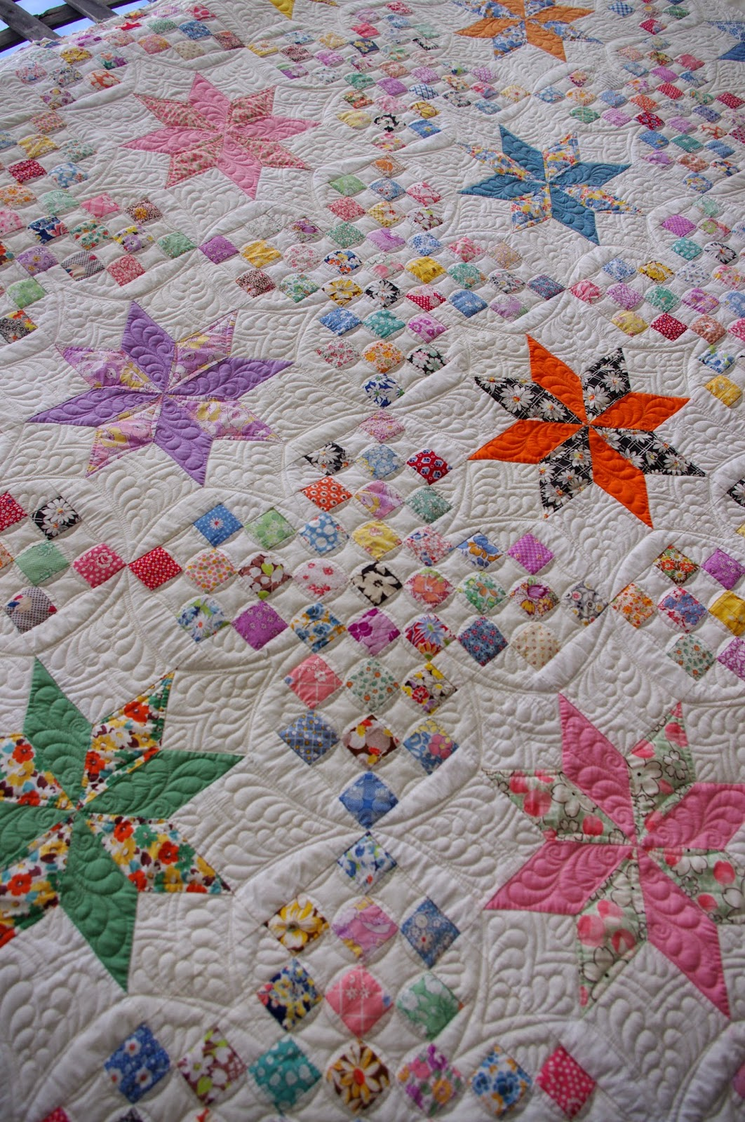 Quilts on Bastings: 1930 s Vintage Le Moyne Star Quilt