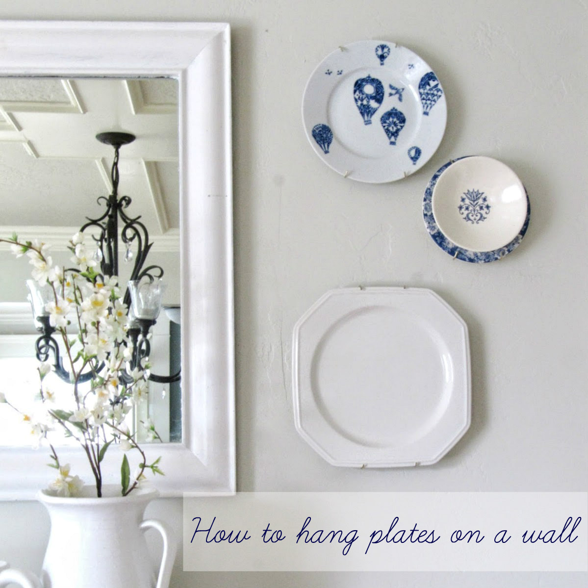 Hang Plates On Wall hanging plates in our dining room - the wicker house