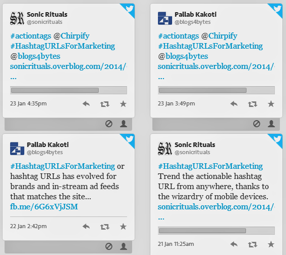 Hashtag URLs Marketing Feed