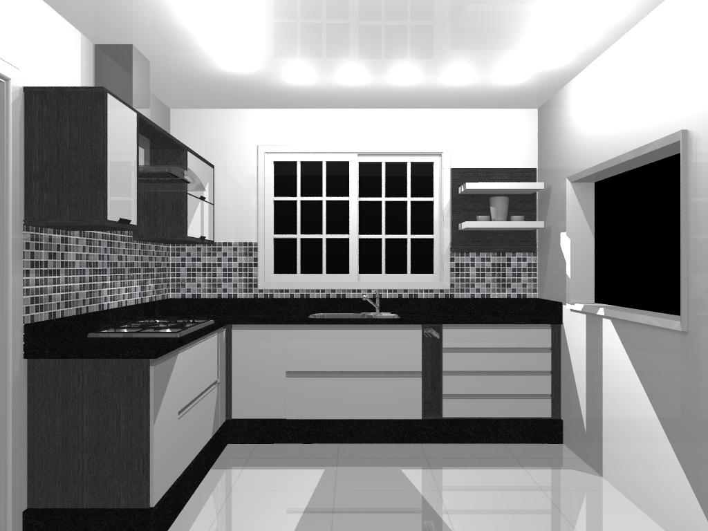 #535457 decoracao cozinha branco e preto:Cozinhas decoradas com pastilhas de  1024x768 px Configurações De Cozinha_942 Imagens