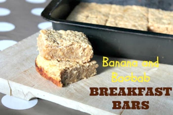 Banana and Baobab Breakfast Bars