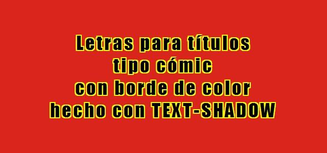 Borde para texto con text-shadow