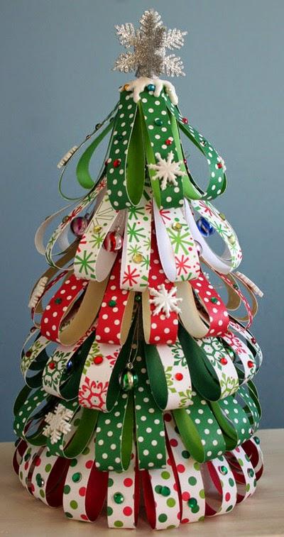 Ribbon Christmas Tree Craft : クリスマスツリー ペーパークラフト : すべての講義