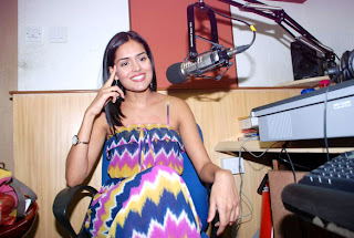 Nathalia Kaur spotted at Radio City 91.1 FM for promotion
