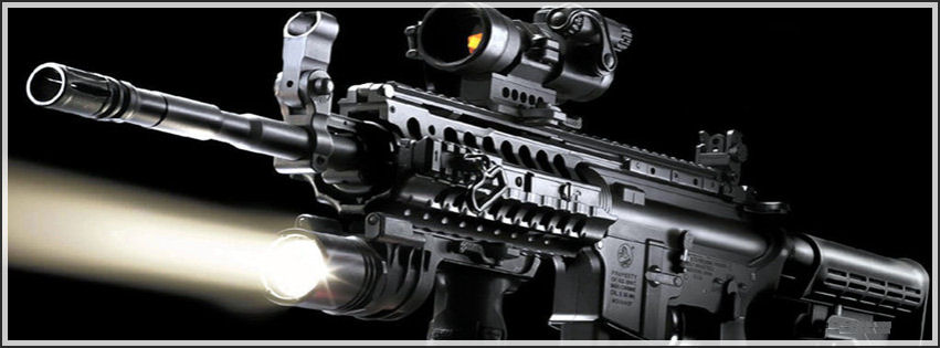 Sniper gun facebook cover