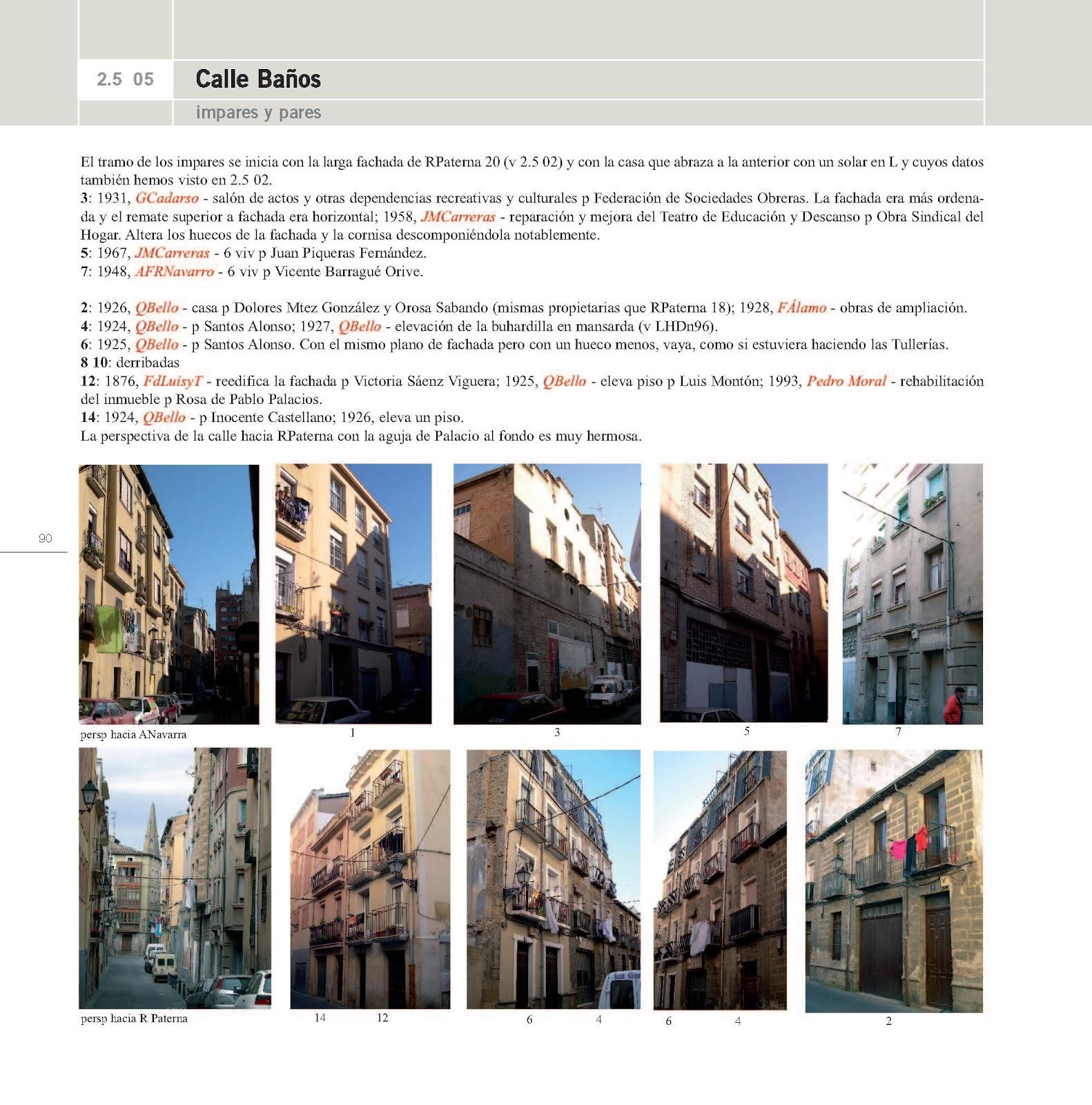 Guia de arquitectura de logro o paginas 2 5 05 calle ba os for Paginas arquitectura