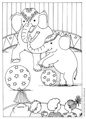 Circus Elephant Coloring Pages >> Disney Coloring Pages