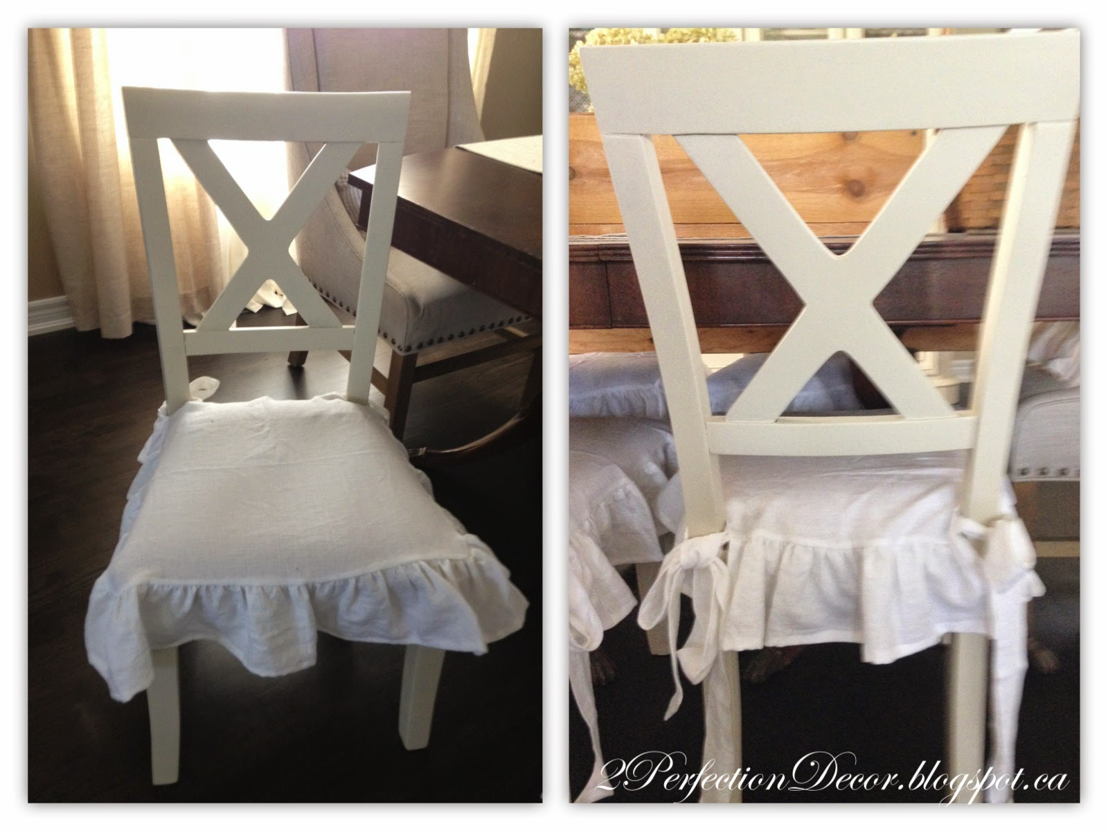 2Perfection Decor: X-back Dining chairs Makeover - With white ...