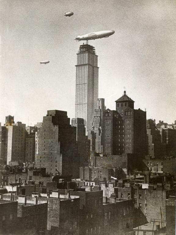 Blimps Empire State Building