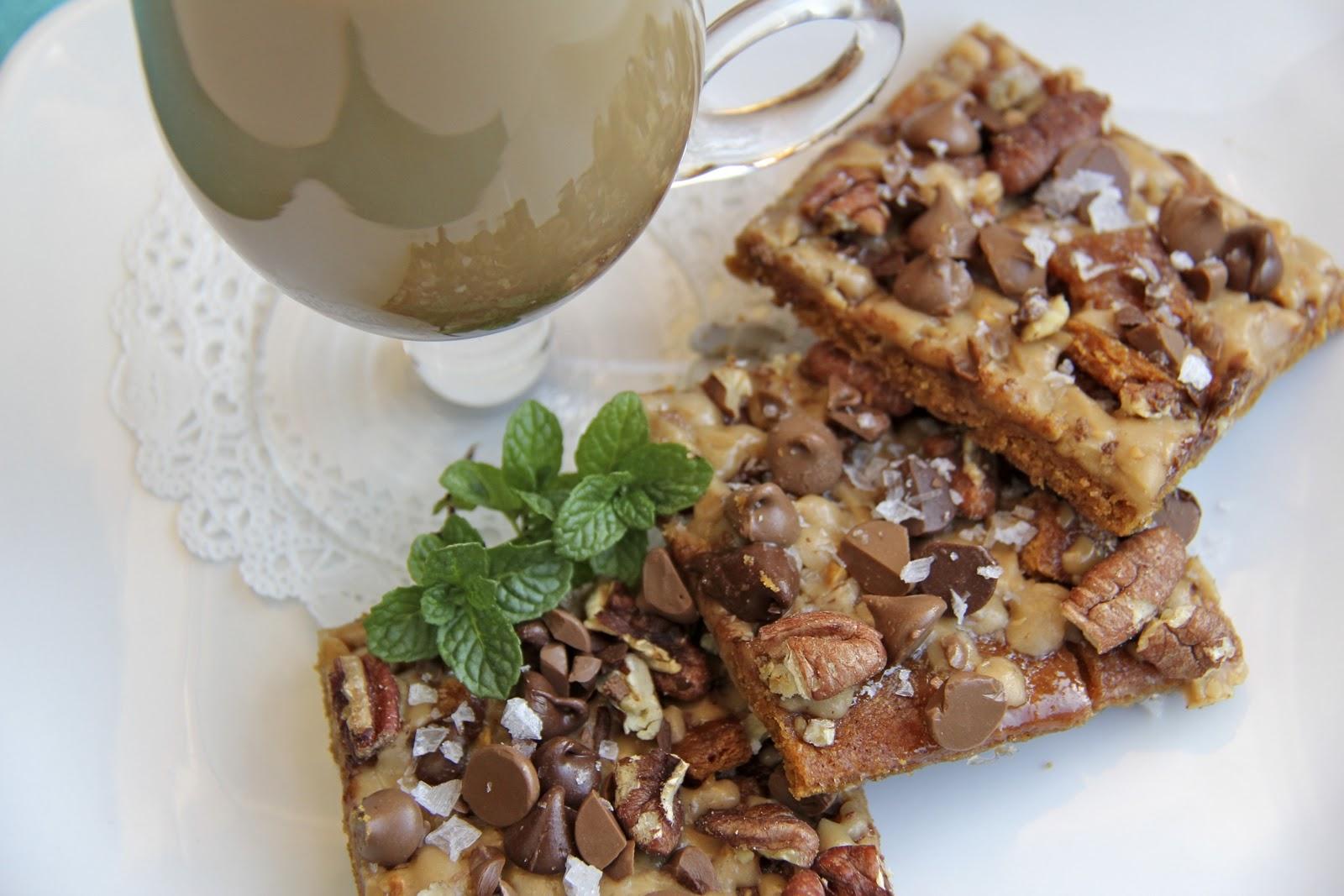 The Café Sucré Farine: Salted Toffee Chocolate Pecan Squares