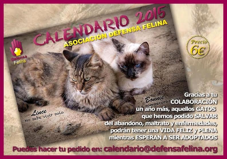 Calendario 2015 de Defensa Felina
