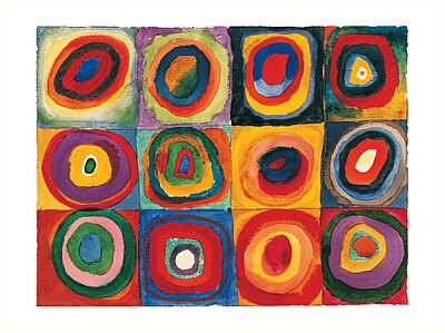 Stay-at-Home Artist: concentric circles canvas art...