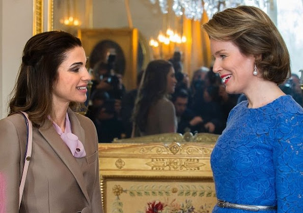 Queen Mathilde of Belgium met with Jordan's Queen Rania