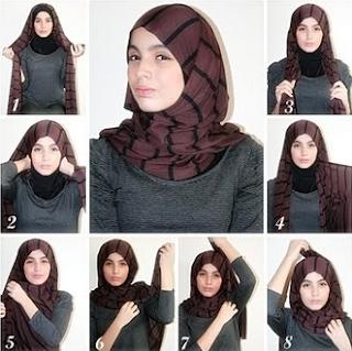 Tutorial Hijab Segi Empat Simple untuk Idul Fitri