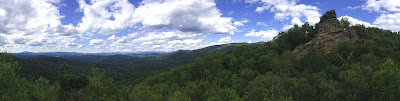 The view from Chimney Mountain, Sunday 08/09/2015.  The Saratoga Skier and Hiker, first-hand accounts of adventures in the Adirondacks and beyond, and Gore Mountain ski blog.