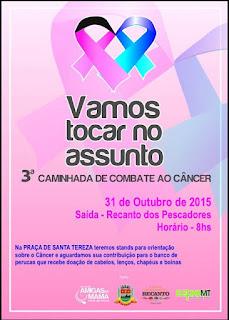 Sábado, 31/10, tem caminhada na campanha de combate ao câncer em Teresópolis