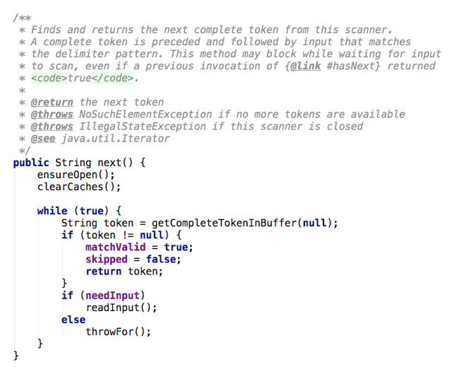 Java Scanner Example from Java Boon Developer showing defensive programming