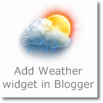 Add Weather widget in Blogger