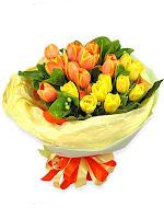 Hand bouquet , bunga tangan , hadiah ulang tahun, bunga graduation, bunga tulip indah