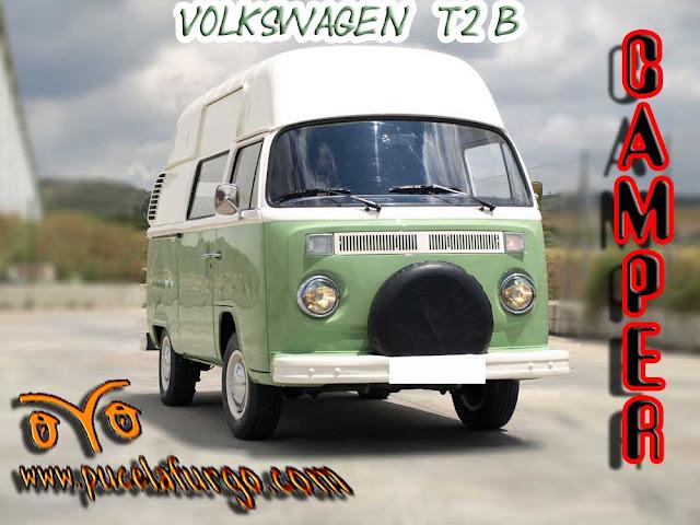 VW T2 B TECHO RIGIDO ALTO EQUIPADA CAMPER PRECIO : 12.600 €