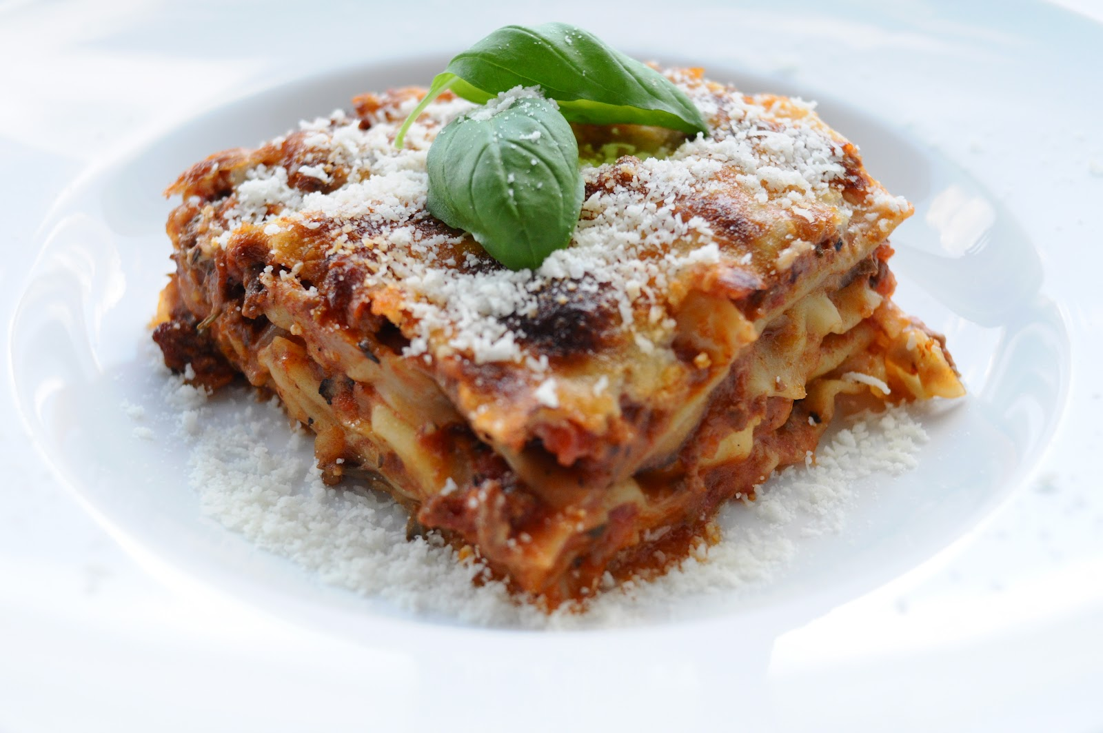 vegetar lasagne med aubergine