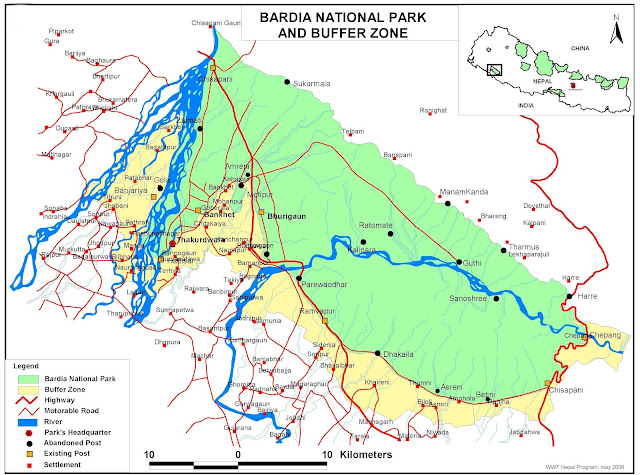 Map of baradiya National Park
