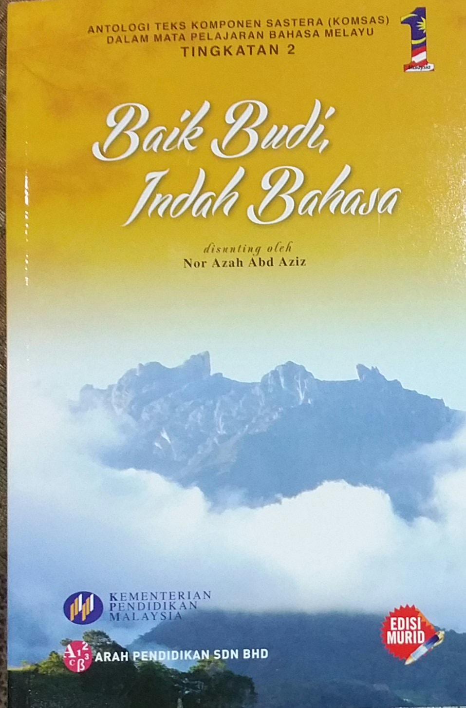SELAMAT DATANG KE LAMAN ANALISIS ANTOLOGI BAIK BUDI INDAH BAHASA