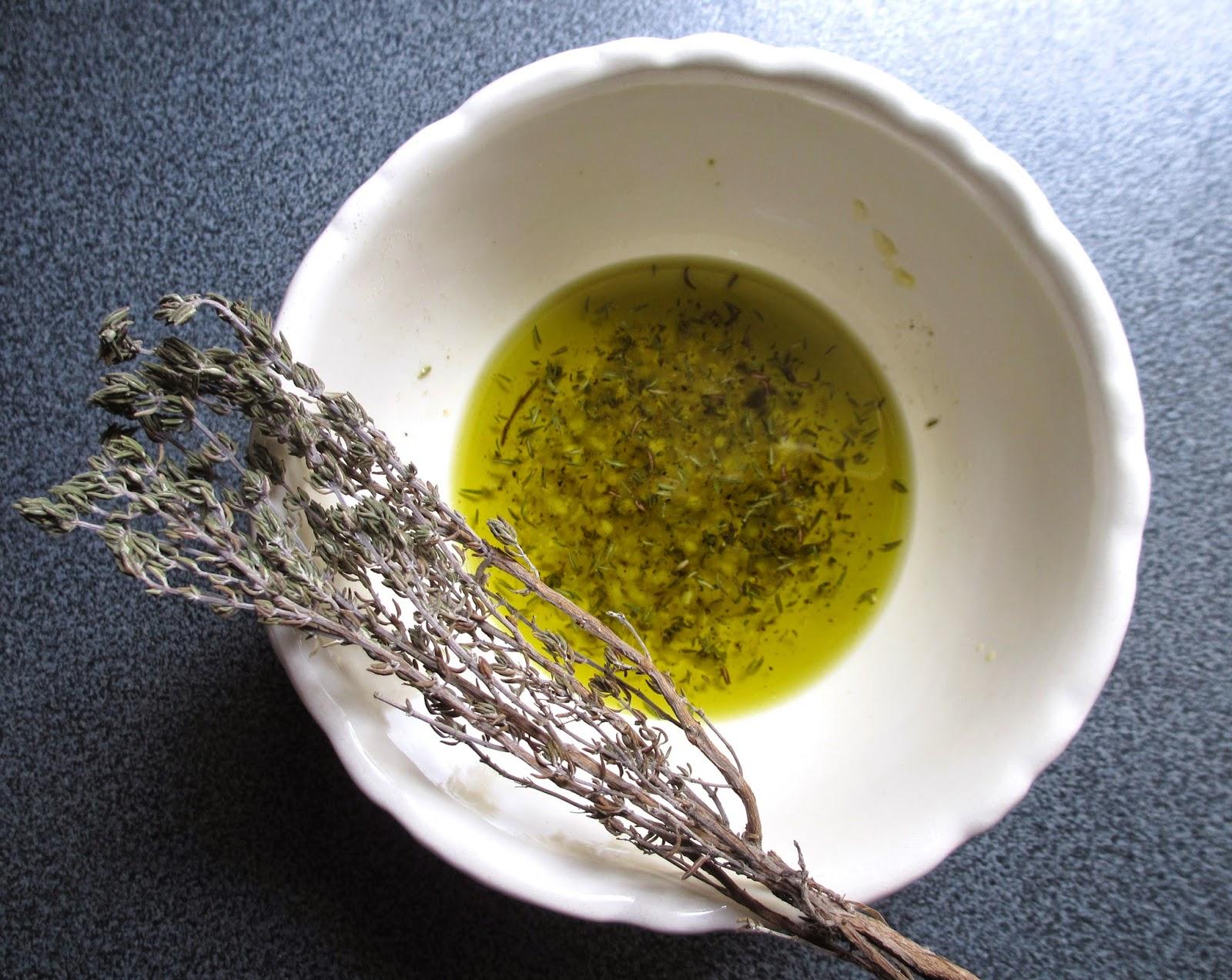 Cooking julia pommes de terre cras es l 39 huile aromatis e - Faire secher du thym ...